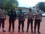 Foto Satpam Pemkot Balikpapan yang menyerupai petugas kepolisian pada Kamis (18/3/2021)