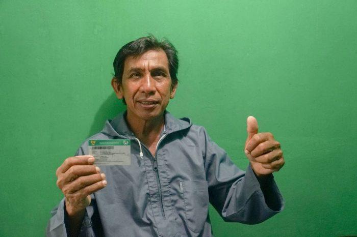 Majid (56) merupakan salah satu Peserta Jaminan Kesehatan Nasional-Kartu Indonesia Sehat (JKN-KIS) yang tinggal di Kota Balikpapan. Foto : HO.