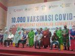 """Komunitas Indonesia Lawan Libas """"Kill Covid-19"""" melaksanakan launching kegiatan vaksinasi bersama Dinas Kesehatan Kota (DKK) Balikpapan di BSCC Dome, Sabtu (19/6/2021). Foto : BorneoFlash.com/Muhammad Eko."""