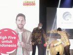 """Indosat Tbk (""""Indosat Ooredoo""""), perusahaan telekomunikasi digital terkemuka di Indonesia, mengumumkan peluncuran layanan 5G komersial pertama di Solo. Selasa (22/6/2021). Foto : HO."""