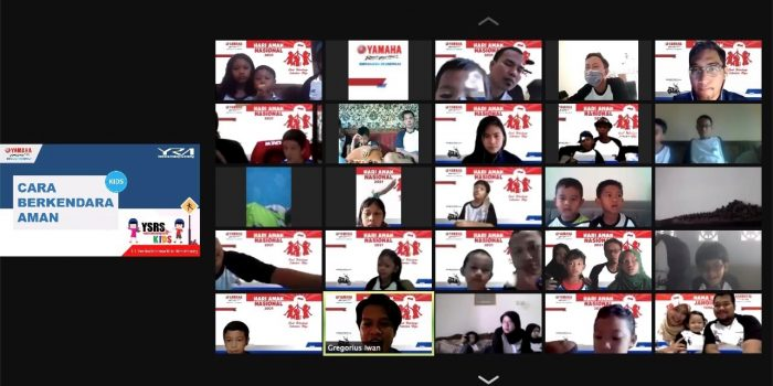 PT Yamaha Indonesia Motor Manufacturing mengajak 120 anak beserta keluarganya, merayakan secara virtual dalam acara Virtual Gathering Hari Anak Nasional, Let's GEAR Up yang dilaksanakan pada Sabtu (24/7/2021) lalu. Foto : HO.
