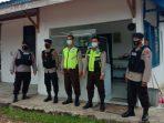 petugas Patroli Batalyon A Pelopor Satbrimob Polda Kaltim rutin menyambangi anggota Satpam di lingkungan Kota Balikpapan. Foto : HO.