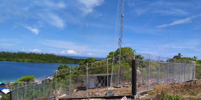 Menara BTS USO 4G yang dioperasikan XL Axiata di Kabupaten Halmahera Selatan, Provinsi Maluku Utara. Foto : HO.