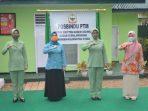 Ketua Persit KCK Koorcab Rem 092 PD VI/Mulawarman Resmikan Posbindu PTM Kodim 0907/Tarakan. Jumat (10/9/2021). Foto : HO.