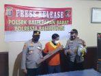 Polsek Balikpapan Barat Menggelar konferensi pers atas kasus tindak pidana penganiayaan, Selasa (14/9/2021). Foto : BorneoFlash.com/Muhammad Eko.