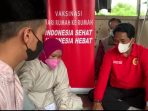 Badan Intelijen Negara Daerah Kalimantan Timur (BINDA Kaltim) menggelar vaksinasi lanjutan dengan jumlah vaksin sebanyak 8 ribu dosis jenis Sinovac, Kamis (16/9/2021). Foto : BorneoFlash.com,Nyhammad Eko.