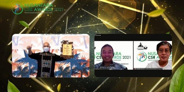 Pertamina Hulu Kalimantan Timur (PHKT) dan Pertamina EP (PEP) Tarakan dan Bunyu Field yang merupakan bagian dari Pertamina Subholding Upstream Regional 3 Kalimantan Zona 10, berhasil meraih penghargaan Nusantara CSR Awards (NCSRA) 2021. Foto : HO.
