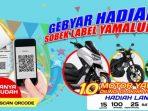 """Yamaha tengah menggelar program bertajuk """"Gebyar Hadiah Sobek Label Yamalube"""", sebagai bentuk apresiasi kepada pelanggan. Foto : HO."""