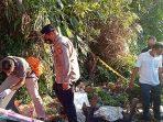 Penemuan seorang sosok bayi laki-laki dalam kondisi meninggal dunia kawasan Jalan Letjen S Parman Rt 37 Kelurahan Gunung Sari Ulu, Balikpapan Tengah tidak jauh dari apartemen Green Valley pada Kamis (7/10/2021) sekitar pukul 16.00 sore.Foto : HO.